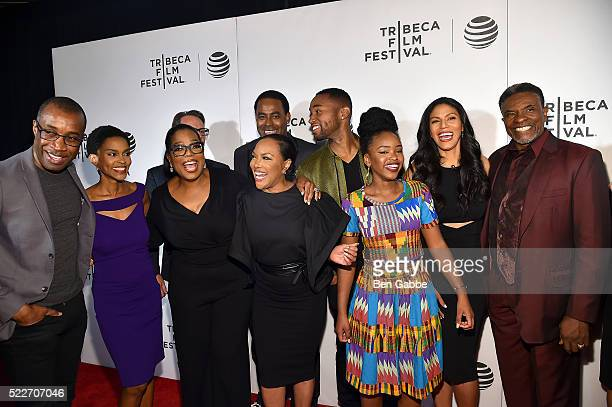 Clement Virgo Kim Hawthorne Oprah Winfrey Lynn Whitfield Lamman Rucker Tye White Merle Dandridge and Keith David attend the Tribeca Tune In Greenleaf...