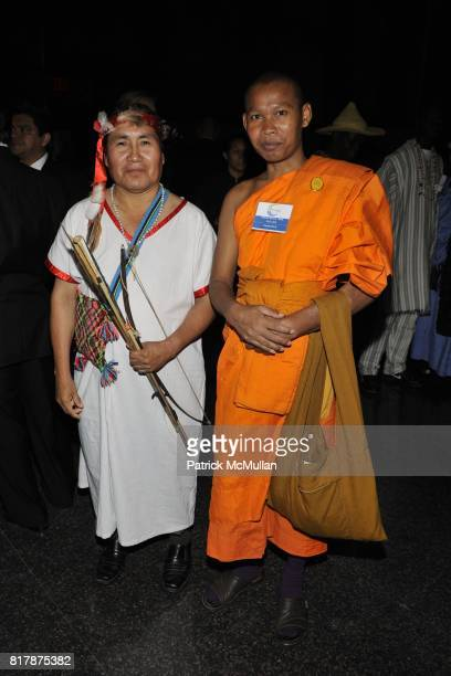 Clemente Caymani and Venerable Bun Salouth attend UNDP Equator Prize 2010 at The American Museum of Natural History on September 20 2010 in New York...