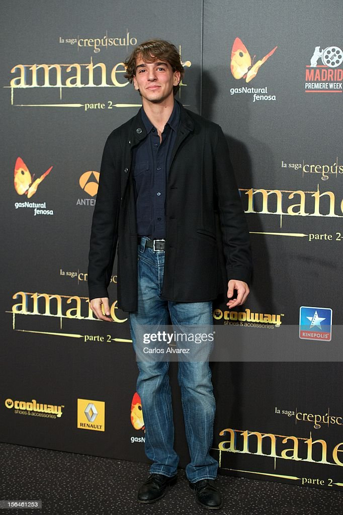 Clemente Lequio attends the 'The Twilight Saga: Breaking Dawn - Part 2' (La Saga Crepusculo: Amanecer Parte 2) premiere at the Kinepolis cinema on November 15, 2012 in Madrid, Spain.