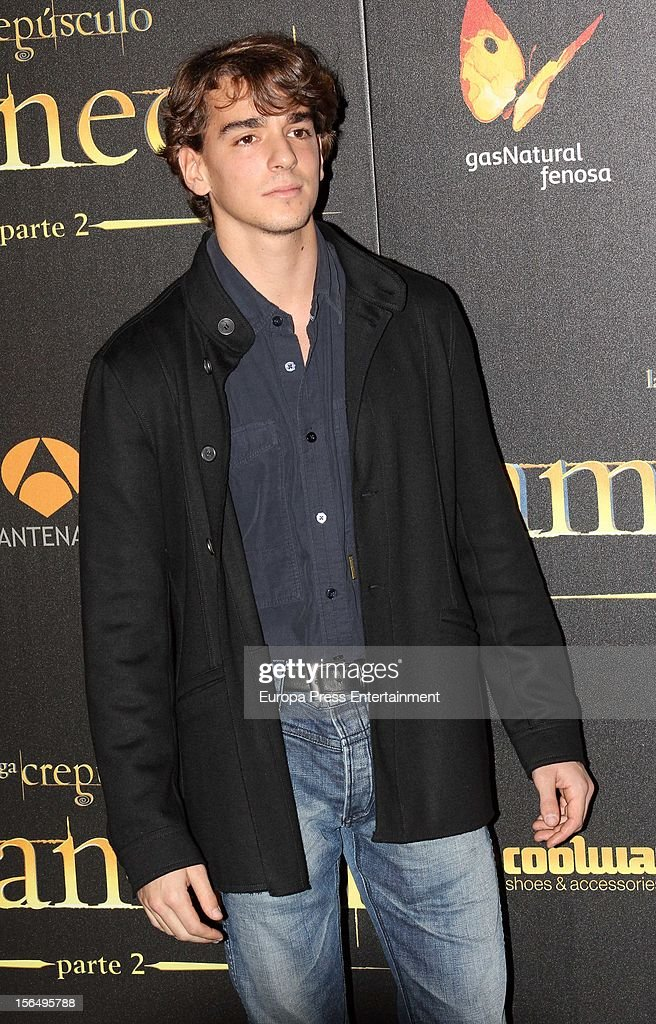 Clemente Lequio attends 'The Twilight Saga: Breaking Dawn - Part 2' photocall at Kinepolis Cinema on November 15, 2012 in Madrid, Spain.