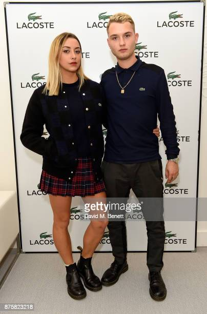 Clementina Linieres and Rafferty Law attend Lacoste VIP Lounge during 2017 ATP World Tour Semi Finals at The O2 Arena on November 18 2017 in London...