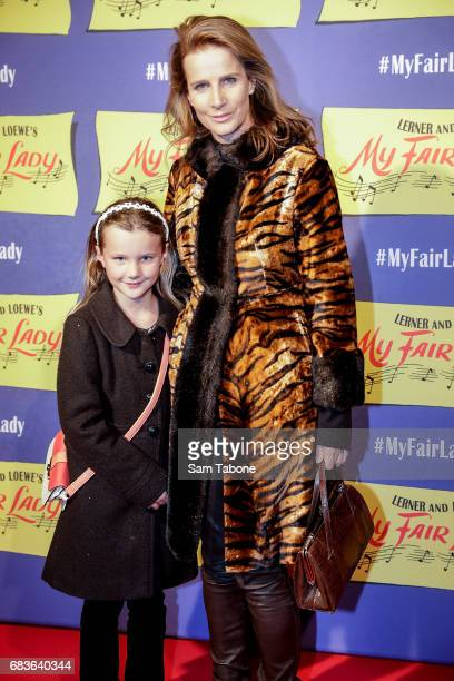Clementine and Rachel Griffiths arrive ahead of opening night of My Fair Lady at Regent Theatre on May 16 2017 in Melbourne Australia