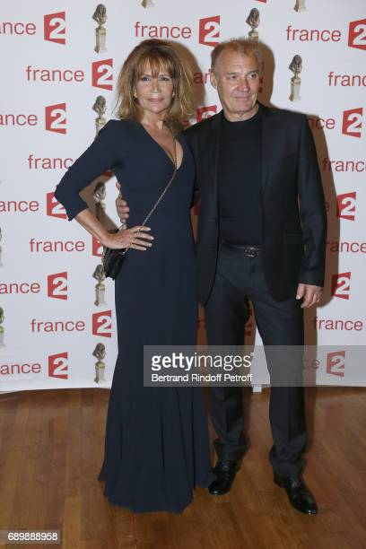 Clementine Celarie and guest attend 'La Nuit des Molieres 2017' at Folies Bergeres on May 29 2017 in Paris France