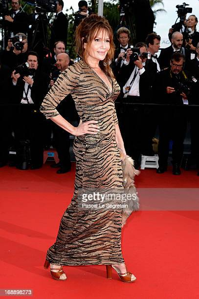 Clementine Celarie attends the 'Jeune Jolie' premiere during The 66th Annual Cannes Film Festival at the Palais des Festivals on May 16 2013 in...