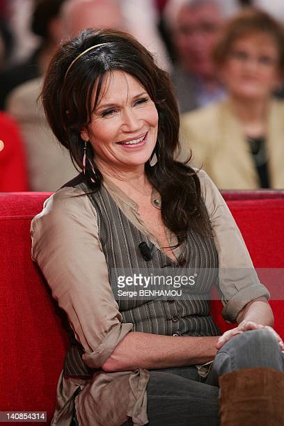 Clementine Celarie attends Vivement Dimanche Tv show on February 1 2012 in Paris France