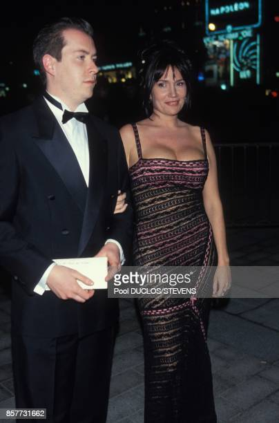 Clementine Celarie with a friend at French movie awards ceremony '19th Nuit Des Cesar' on February 26 1994 in Paris France
