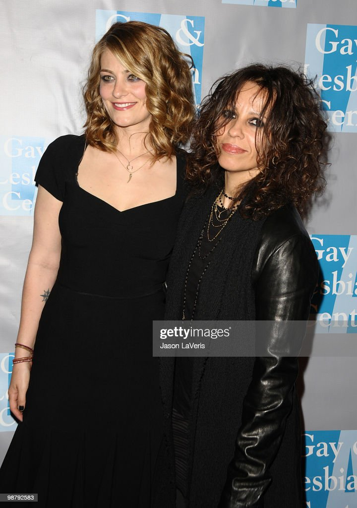 Clementine Ford and Linda Perry attend the L.A. Gay & Lesbian Center's 'An Evening With Women' at The Beverly Hilton Hotel on May 1, 2010 in Beverly Hills, California.