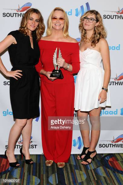 Clementine Ford Cybill Shepherd and Ariel ShepherdOppenheim attend at the 21st Annual GLAAD Media Awards at San Francisco Marriott Marquis on June 5...