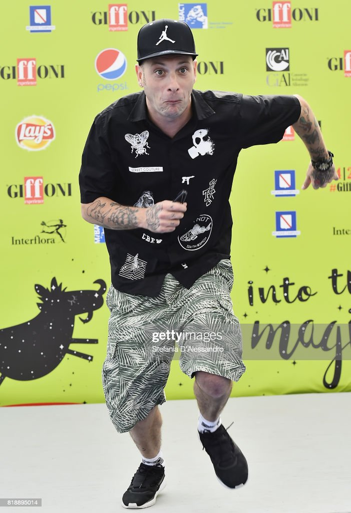 Clementino attends Giffoni Film Festival 2017 Day 6 Photocall on July 19, 2017 in Giffoni Valle Piana, Italy.