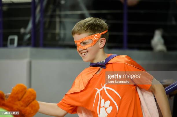 Clemson fan prior to 1st half action between the Clemson Tigers and the Florida State Seminoles on February 25 2017 at Littlejohn Coliseum in Clemson...