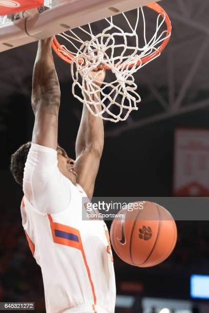 Clemson forward Donte Grantham dunks during 2nd half action between the Clemson Tigers and the Florida State Seminoles on February 25 at Littlejohn...