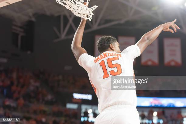Clemson forward Donte Grantham reacts after a dunk during 2nd half action between the Clemson Tigers and the Florida State Seminoles on February 25...