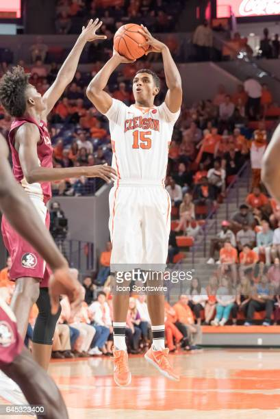 Clemson forward Donte Grantham shoots during 2nd half action between the Clemson Tigers and the Florida State Seminoles on February 25 at Littlejohn...
