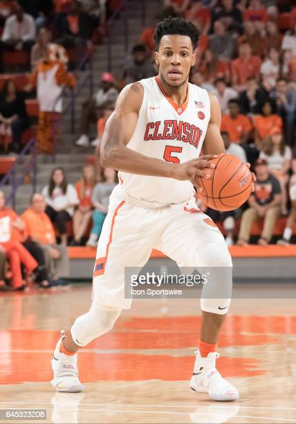 Clemson forward Jaron Blossomgame during 2nd half action between the Clemson Tigers and the Florida State Seminoles on February 25 at Littlejohn...