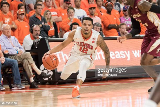 Clemson guard Avry Holmes during 2nd half action between the Clemson Tigers and the Florida State Seminoles on February 25 at Littlejohn Coliseum in...
