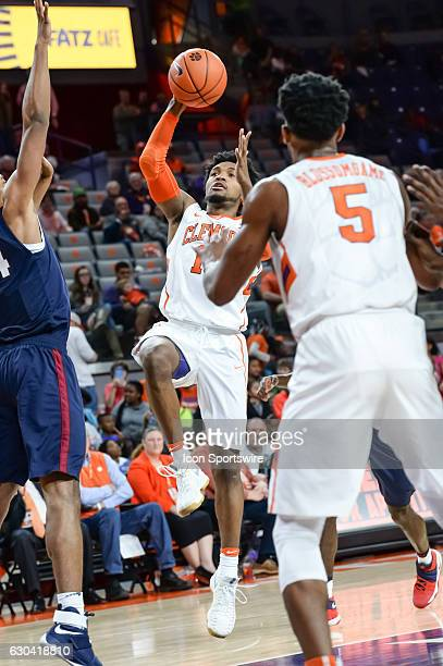 Clemson guard Gabe DeVoe goes up with a shot during 2nd half action between the Clemson Tigers and the South Carolina State Bulldogs on December 13...