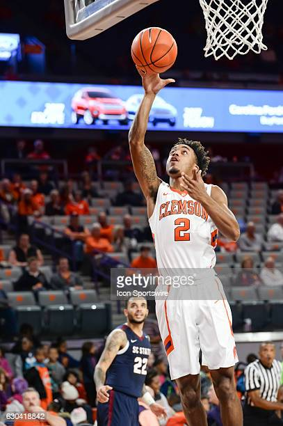 Clemson guard Marcquise Reed goes up with a lay up during 2nd half action between the Clemson Tigers and the South Carolina State Bulldogs on...