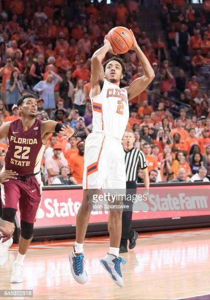 Clemson guard Marcquise Reed shoots during 2nd half action between the Clemson Tigers and the Florida State Seminoles on February 25 at Littlejohn...