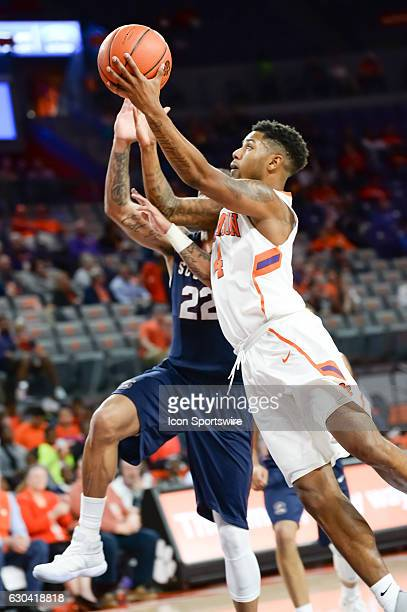 Clemson guard Shelton Mitchell lays one in during 2nd half action between the Clemson Tigers and the South Carolina State Bulldogs on December 13...