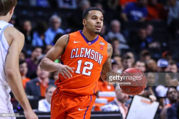 Clemson Tigers guard Avry Holmes during the first half of the 2017 New York Life ACC Tournament second round game between the Duke Blue Devils and...
