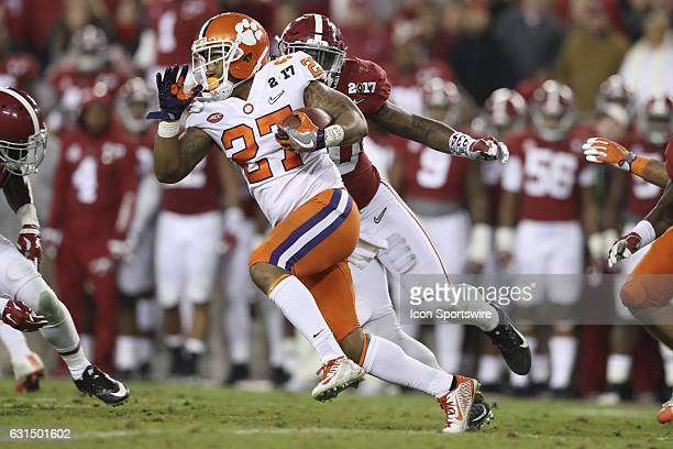 Clemson Tigers running back CJ Fuller returns a kick off during the 2017 College Football National Championship Game between the Clemson Tigers and...