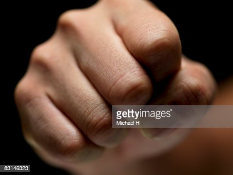 Clenched fist,human hand