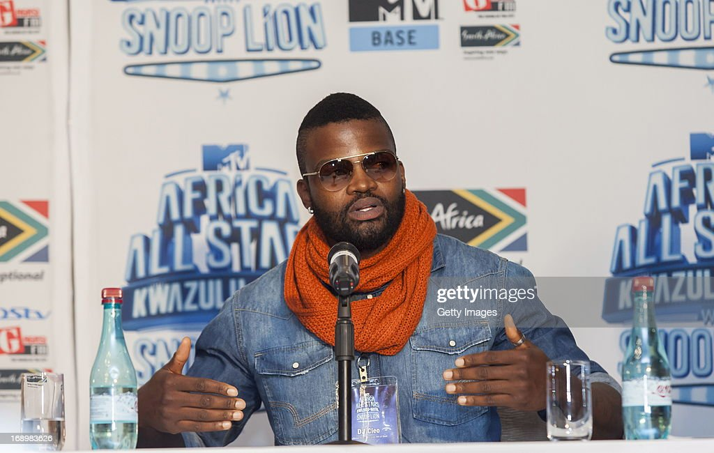 DJ Cleo pictured at the press conference for MTV Africa All Stars KwaZulu-Natal with Snoop Lion at Beverly Hills Hotel on May17, 2012 in Durban, South Africa.