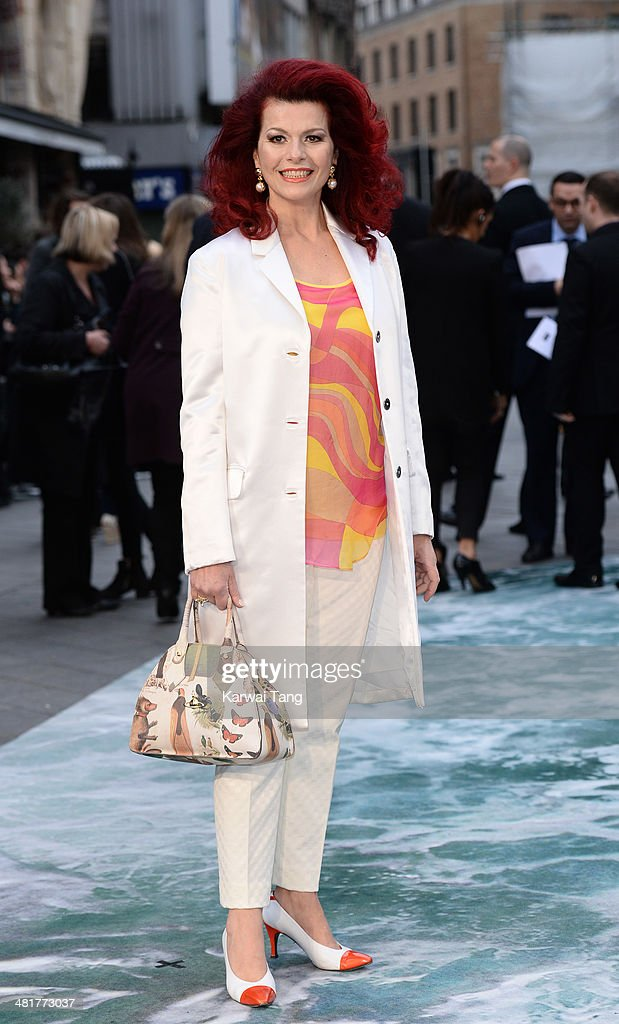 Cleo Rocos attends the UK premiere of 'Noah' held at the Odeon Leicester Square on March 31, 2014 in London, England.