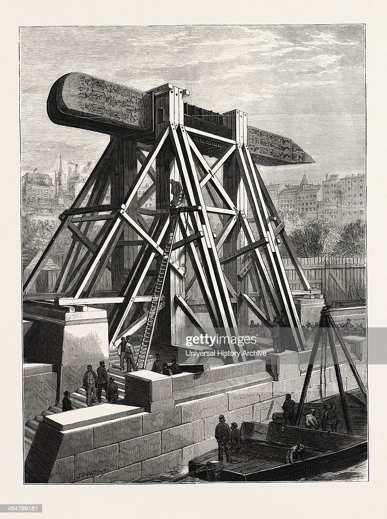 Cleopatra's Needle — The Machinery For Placing The Obelisk In Position On The Thames Embankment.