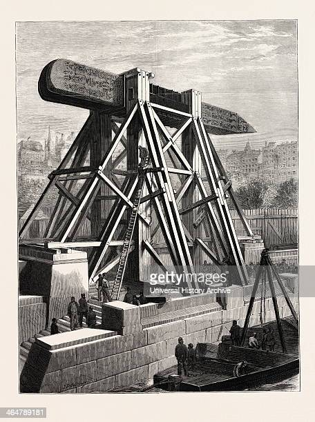 Cleopatra's Needle — The Machinery For Placing The Obelisk In Position On The Thames Embankment