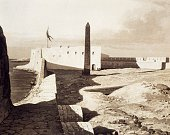 Cleopatra's obelisk in Alexandria engraving from Panorama of Egypt and Nubia by Hector Horeau