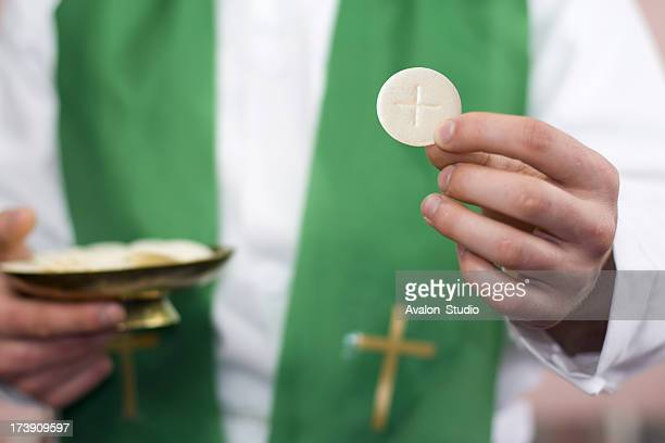 Clergyman and communion
