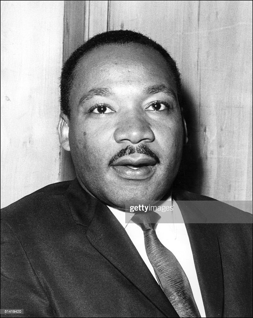 US clergyman, civil rights leader and future Nobel Peace Prize winner, Martin Luther KIng speaking 21 September 1964 in London at the press conference. The leader of the Movement against Racial Segregation was launching the British version of his latest book on the civil rights struggle in America, 'Why We Can't Wait'. <a gi-track='captionPersonalityLinkClicked' href=/galleries/search?phrase=Martin+Luther+King&family=editorial&specificpeople=70030 ng-click='$event.stopPropagation()'>Martin Luther King</a> was assassinated 04 April 1968 in Memphis, Tennessee. James Earl Ray confessed to shooting King and was sentenced to 99 years in prison. King's killing sent shock waves through American society at the time, and is still regarded as a landmark event in recent US history.