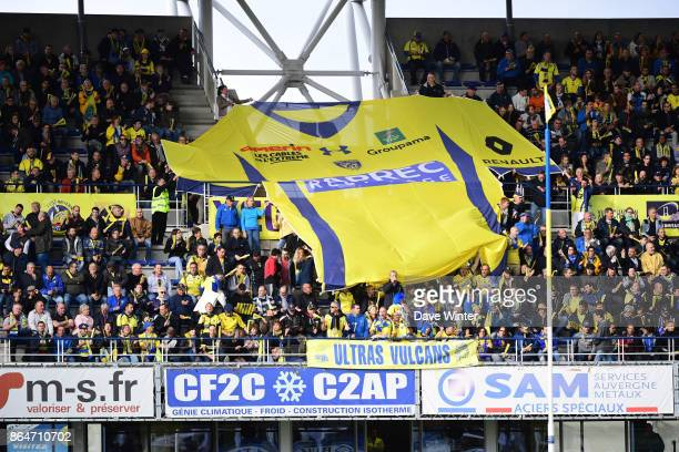 Clermont fans during the European Rugby Champions Cup match between Clermont Auvergne and Northampton Saints on October 21 2017 in Clermont France