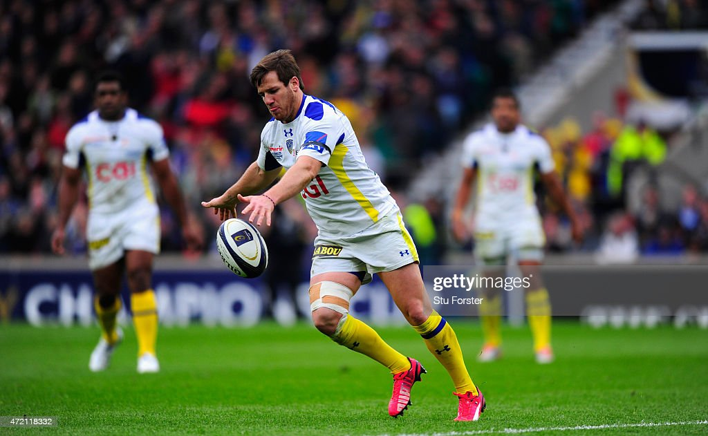 Clermont player <a gi-track='captionPersonalityLinkClicked' href=/galleries/search?phrase=Brock+James&family=editorial&specificpeople=636412 ng-click='$event.stopPropagation()'>Brock James</a> in action during the European Rugby Champions Cup Final between ASM Clermont Auvergne and RC Toulon at Twickenham Stadium on May 2, 2015 in London, England.