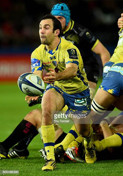 Clermont player Morgan Parra in action during the European Rugby Champions Cup Pool 2 match between Ospreys v ASM Clermont Auvergne at Liberty...