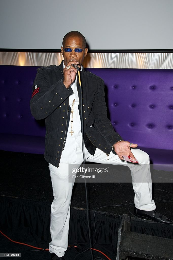 Cletus Lemarc performs his hit single at Cafe Entourage on April 19, 2012 in Hollywood, California.