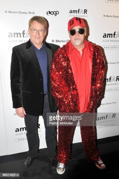 Cleve Jones and Gilbert Baker attend AMFAR's Tenth Annual HONORING WITH PRIDE Celebration Hosted by ALAN CUMMING at Edison Ballroom on June 11 2009...