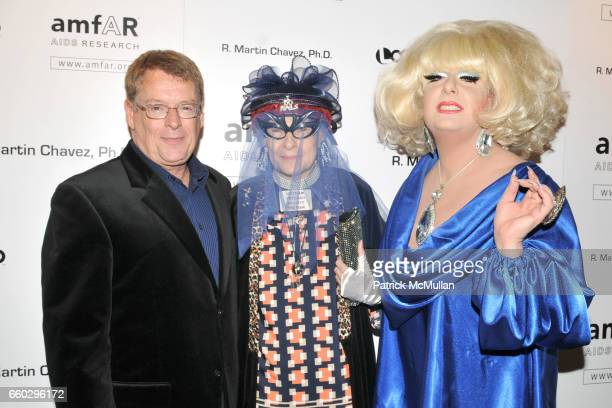 Cleve Jones Rollerena and Lady Bunny attend AMFAR's Tenth Annual HONORING WITH PRIDE Celebration Hosted by ALAN CUMMING at Edison Ballroom on June 11...
