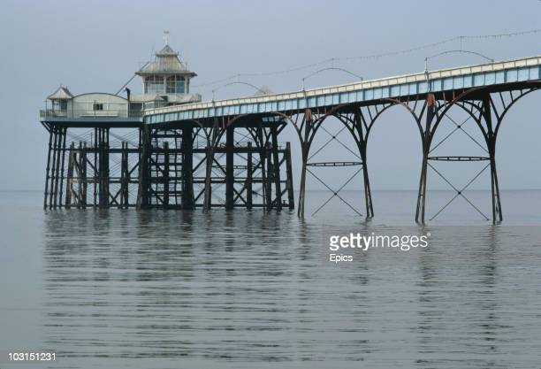 Clevedon Pier in Clevedon North Somerset April 1970 A few months later it collapsed and was rebuilt to a similar design