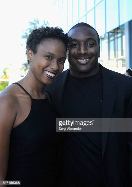 Cleveland Browns running back Duke Johnson and guest attend the HBO Ballers Season 2 Red Carpet Premiere and Reception on July 14 2016 at New World...