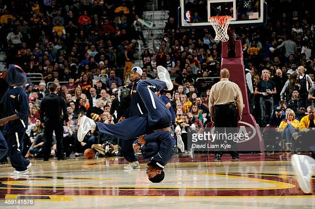 Cleveland Cavaliers dance team performs during a game against the Denver Nuggets at The Quicken Loans Arena on November 17 2014 in Cleveland Ohio...