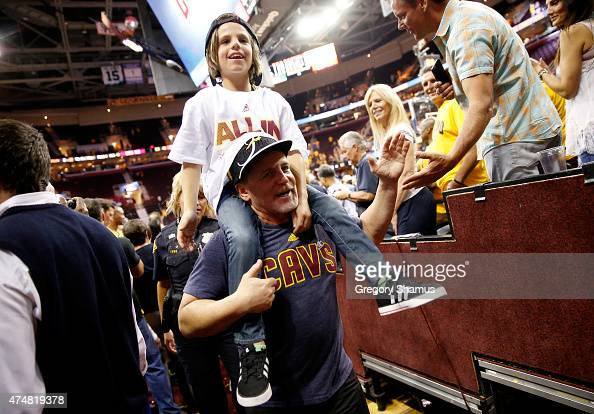 Cleveland Cavaliers owner Dan Gilbert celebrates after defeating the Atlanta Hawks during Game Four of the Eastern Conference Finals of the 2015 NBA...