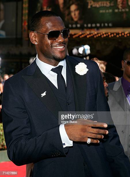 Cleveland Cavaliers player LeBron James arrives at the 2006 ESPY Awards at the Kodak Theatre on July 12 2006 in Hollywood California