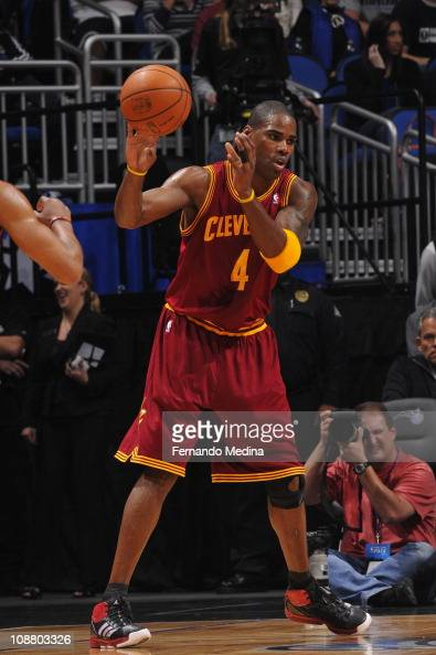 Cleveland Cavaliers power forward Antawn Jamison protects the ball during the game against the Orlando Magic on January 30 2011 at the Amway Center...