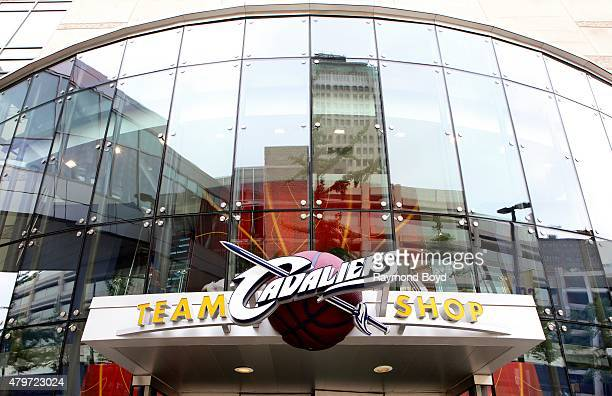 Cleveland Cavaliers Team Shop at Quicken Loans Arena home of the Cleveland Cavaliers basketball team Cleveland Gladiators arena football team and...