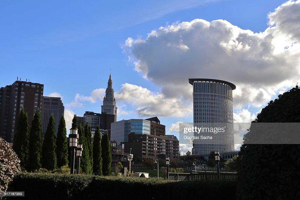 Cleveland City Skyline, Ohio, USA : Stock Photo