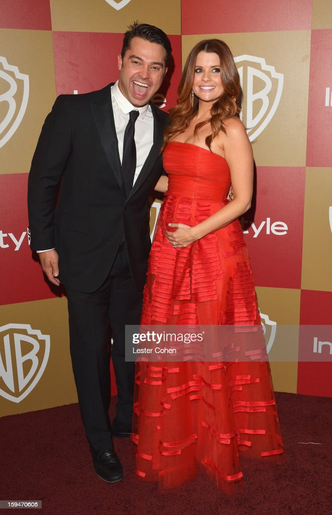 Cleveland Indians outfielder Nick Swisher and wife actress JoAnna Garcia attend the 2013 InStyle and Warner Bros. 70th Annual Golden Globe Awards Post-Party held at the Oasis Courtyard in The Beverly Hilton Hotel on January 13, 2013 in Beverly Hills, California.