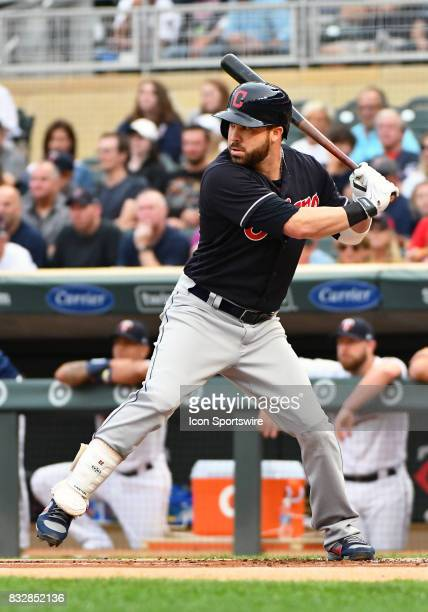 Cleveland Indians Second base Jason Kipnis at the plate during a MLB game between the Minnesota Twins and Cleveland Indians on August 15 2017 at...