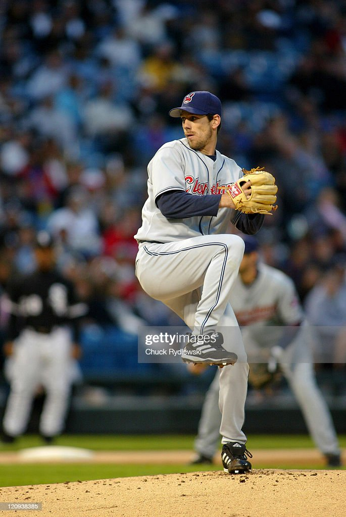 Cleveland Indians' Starting Pitcher, <a gi-track='captionPersonalityLinkClicked' href=/galleries/search?phrase=Cliff+Lee&family=editorial&specificpeople=218092 ng-click='$event.stopPropagation()'>Cliff Lee</a>, pitches during their game against the Chicago White Sox June 9, 2006 at U.S. Cellular Field in Chicago, Illinois. The White Sox led the Indians 2-1 in the 5th inning.